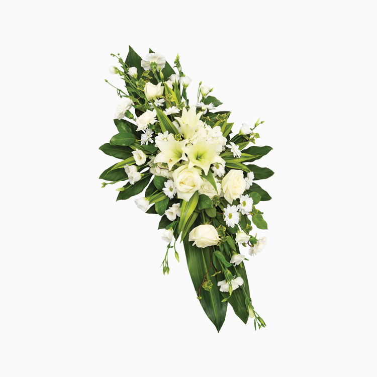 Double Ended Spray Lilies White for Funerals