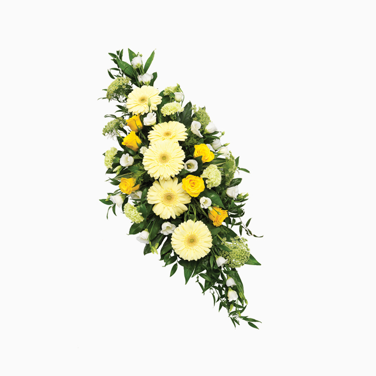 Double Ended Yellow Spray for Funerals