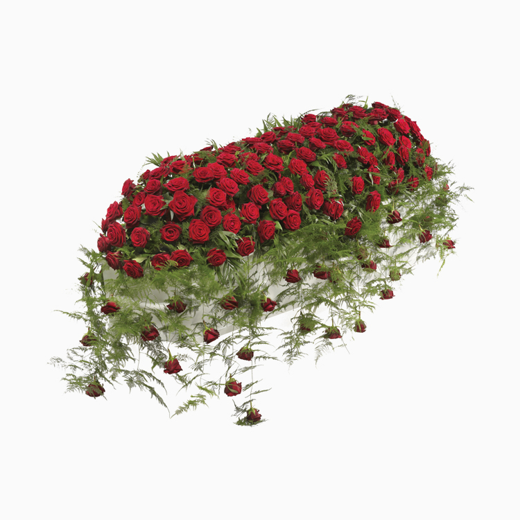 Luxury Red Rose Casket Spray for Funerals