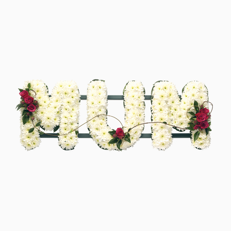 Single Flower Lettering - Mum - Funerals