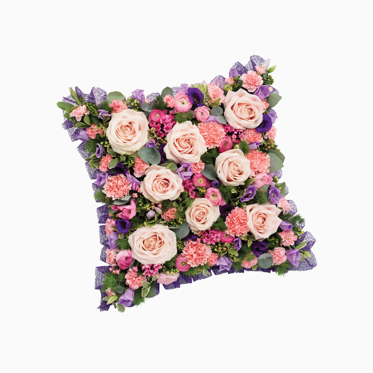 Pink Mauve Cushion for Funerals