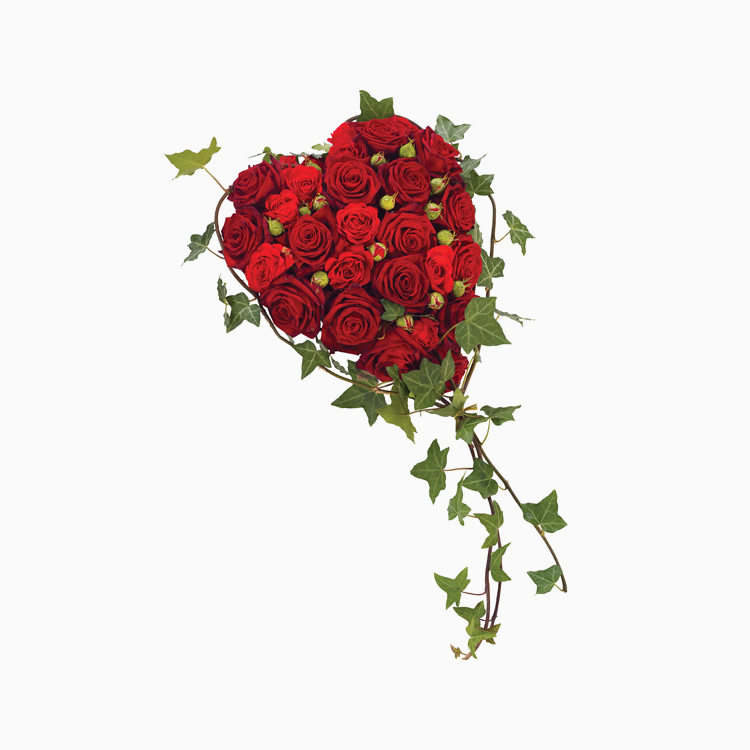 Red Rose Heart for Funerals