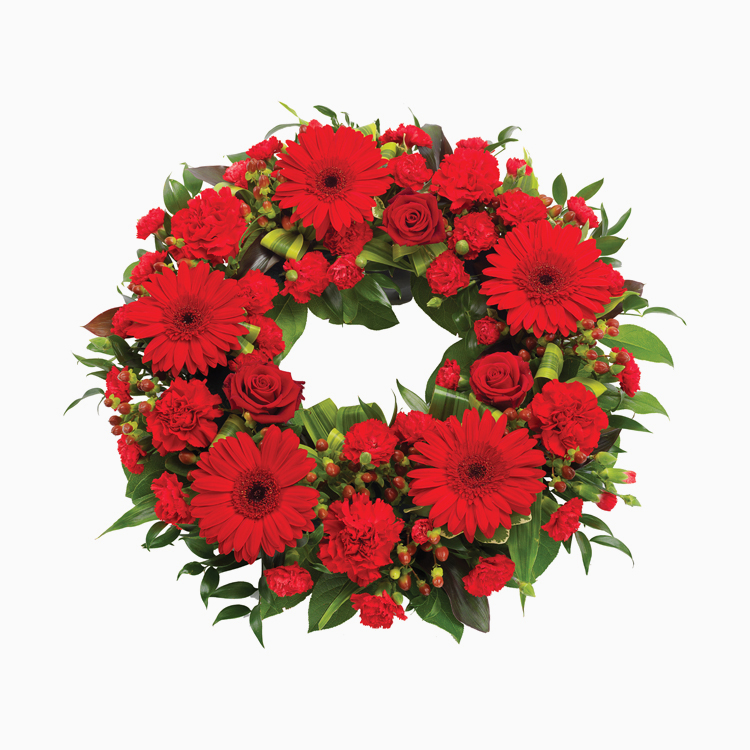 Red Wreath For Wreaths