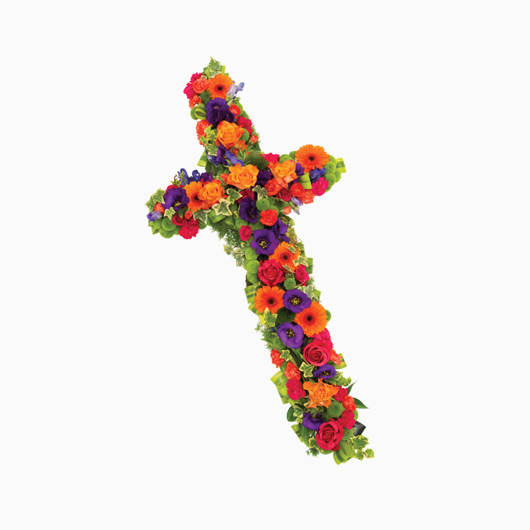 Vibrant Cross For Religious Tributes