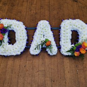 illustration of floral DAD tribute