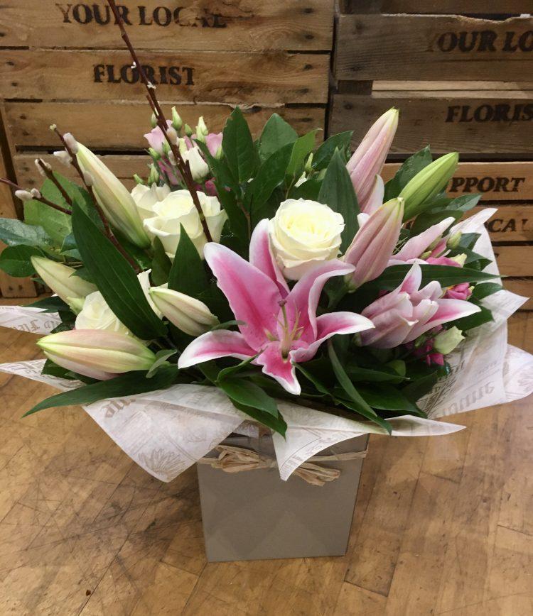 Llily and Rose arrangement